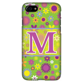 Green with Flowerss - Personalised Phone Case