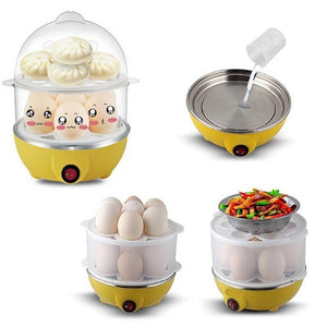Multi-functional Electric Boilers 2-Layer Rapid Egg Cooker Steamer