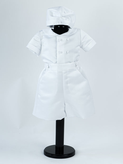Poinsettia Christening Outfit with Cap - BT-033