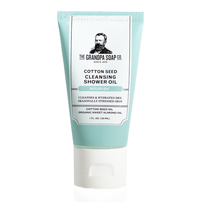 Grandpa Soap Co. Cotton Seed Shower Oil - Travel PAKT