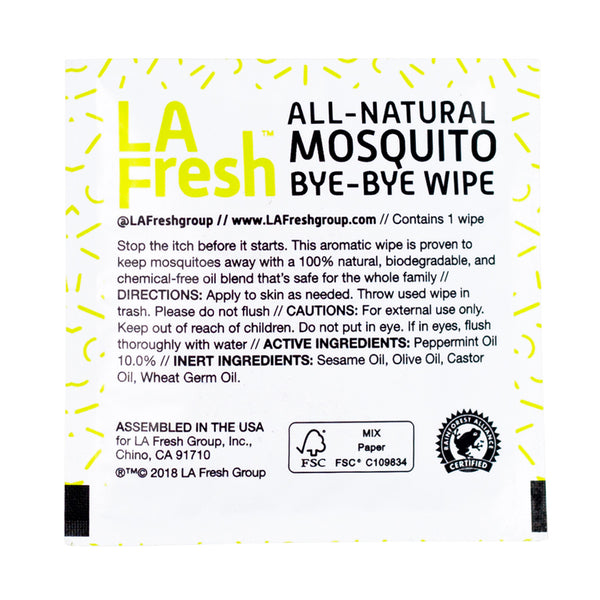 All-Natural Mosquito Repellent Wipe - Travel PAKT