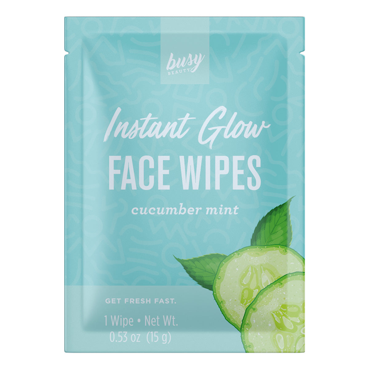 Busy Beauty Cucumber Mint Face Wipe - Travel PAKT