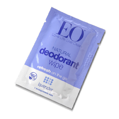 EO Organic Natural Deodorant Wipe Lavender - Travel PAKT