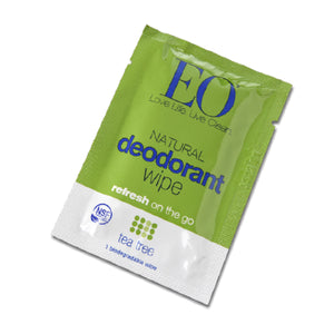 EO Organic Natural Deodorant Wipe Tea Tree - Travel PAKT
