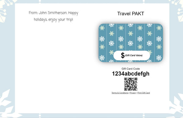 PAKT Gift Card - Travel PAKT