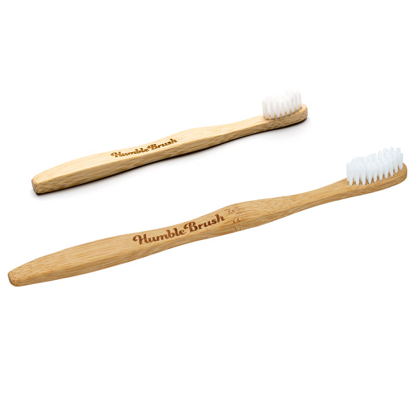 Humble Co. Kids and Travel Size Bamboo Toothbrush - Travel PAKT