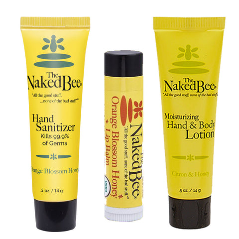 Mini Bee Sanitizing and Moisturizing Gift Set - Travel PAKT