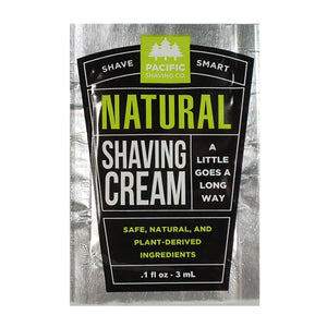 Pacific Shaving Co. Natural Shaving Cream - Travel PAKT