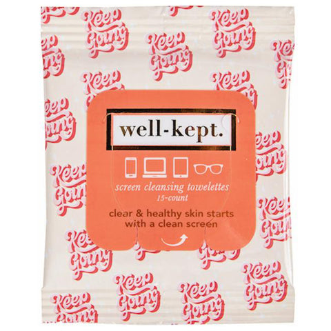 well-kept Screen Cleansing Wipes - Travel PAKT