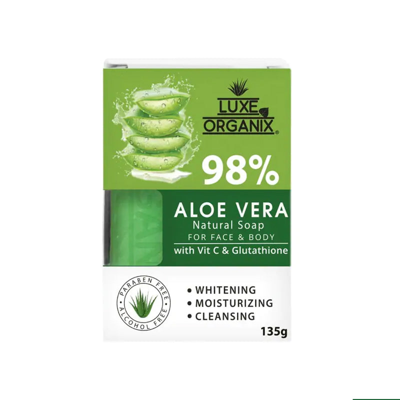 98% Aloe Vera Natural Soap with Vitamin C and Glutathione