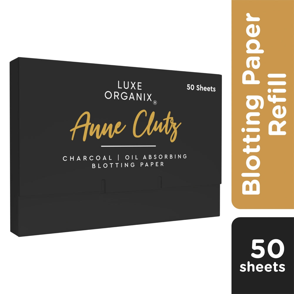 Luxe Organix Philippines Anne Clutz Oil Absorbing Blotting Paper - Charcoal