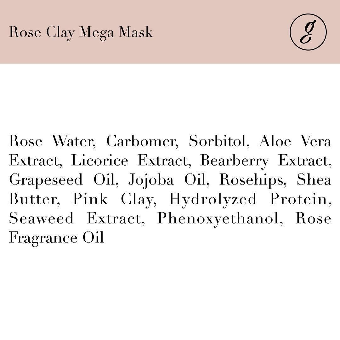 The Go Glass Rose Clay Mega Mask Ingredients