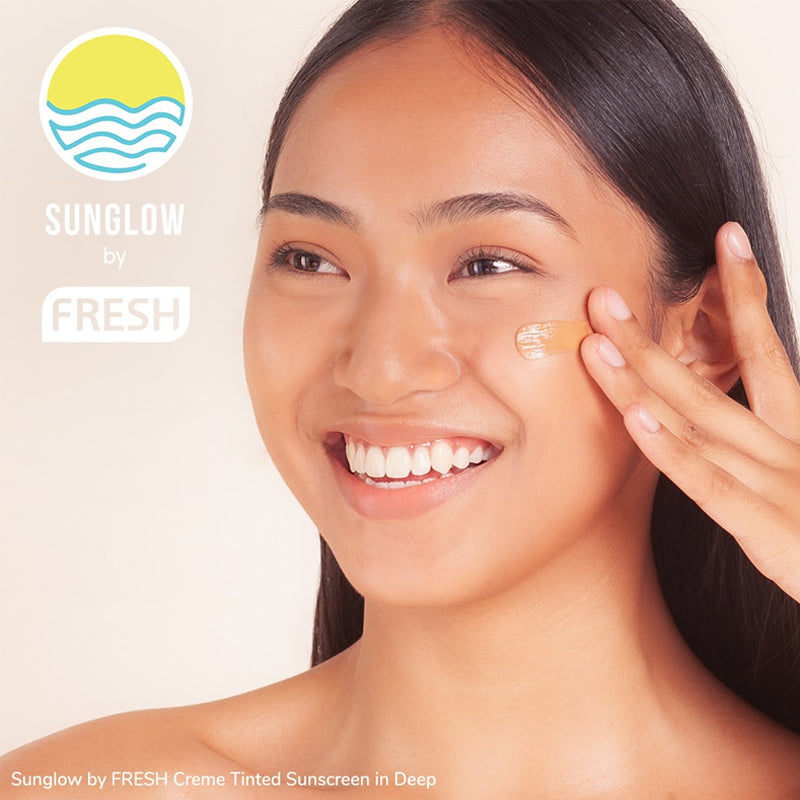 Sunglow By Fresh Creme Tinted Sunscreen - Deep