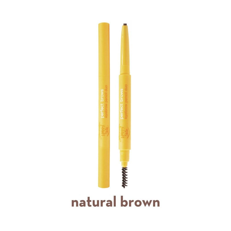 Generation Happy Skin Perfect Brows Eyebrow Pencil Duo - Natural Brown