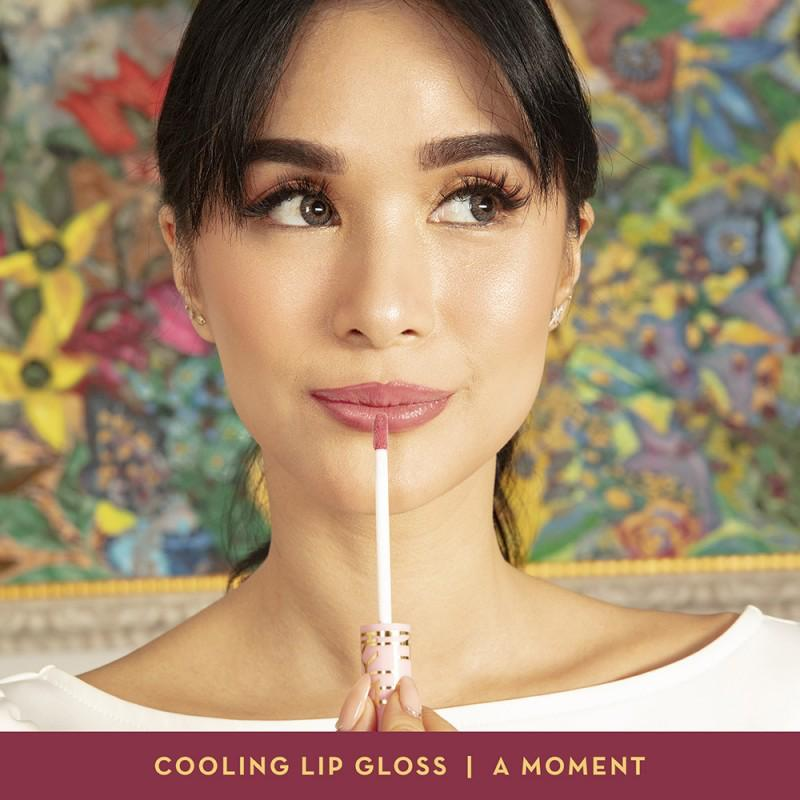 Happy Skin Love Marie Cooling Lip Gloss in A Moment model