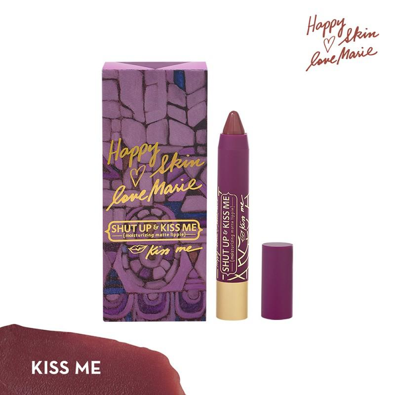 Happy Skin Love Marie Shut Up & Kiss Me Moisturizing Matte Lippie in Kiss Me