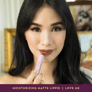 Happy Skin Love Marie Shut Up & Kiss Me Moisturizing Matte Lippie in Love Me model
