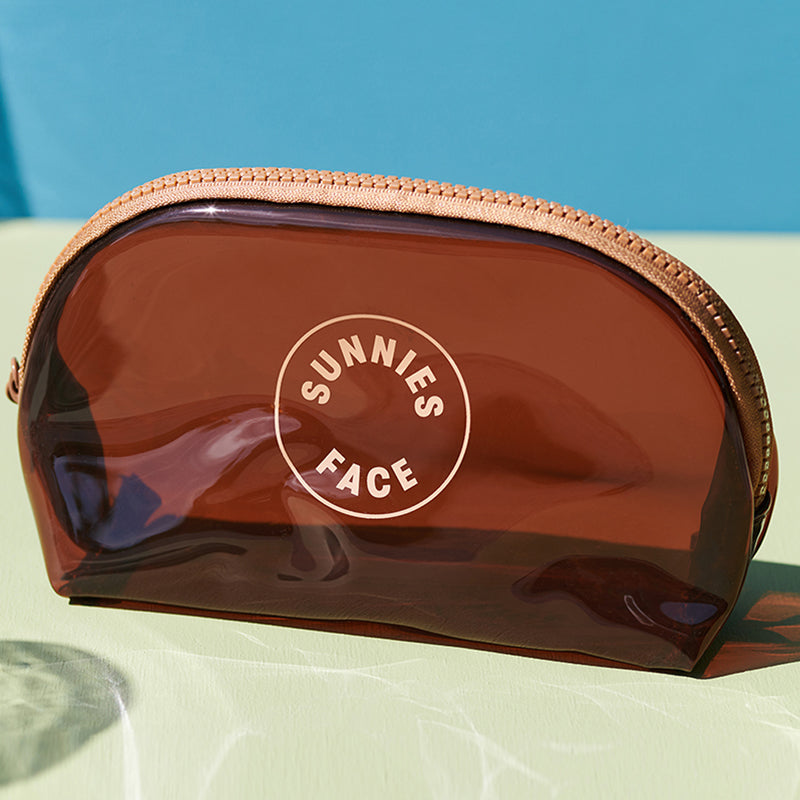 Sunnies Face Jelly Pouch - Coffee