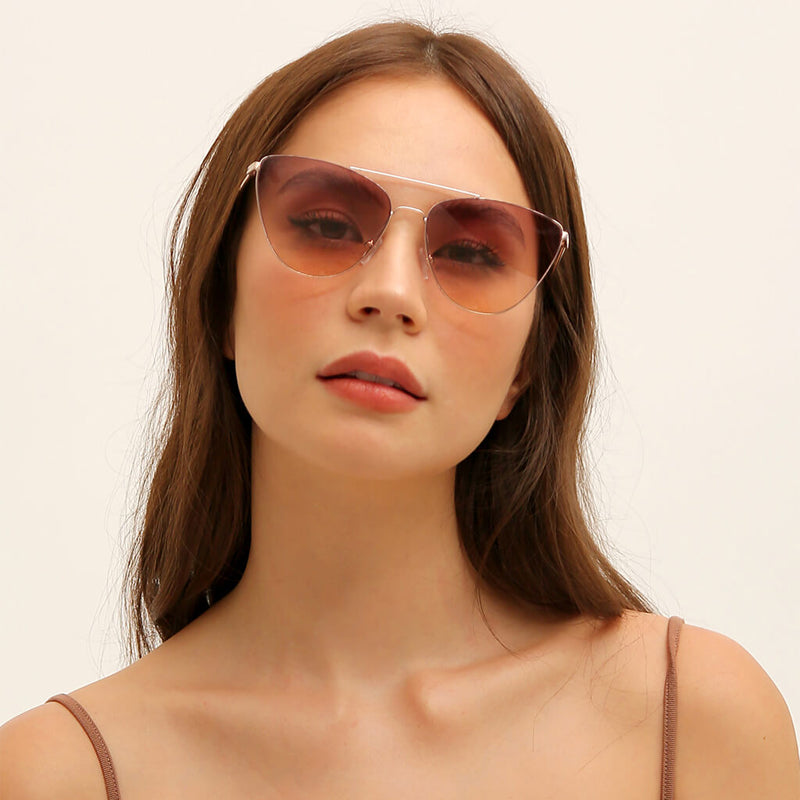 Sunnies Studios Kaia Cat Eye Sunglasses  - Petal Gradient Model