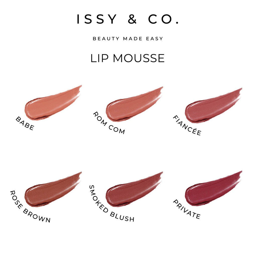 Issy and Co Lip Mousse Swatches
