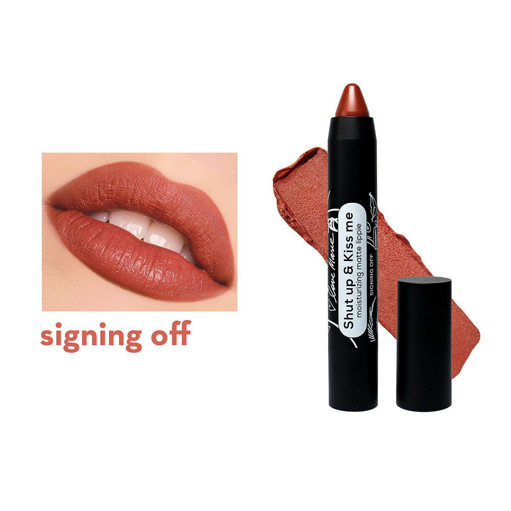 Happy Skin Love Marie Shut Up & Kiss Me Moisturizing Matte Lippie - Signing Off