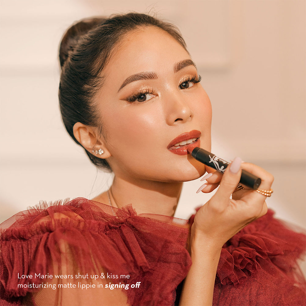 Happy Skin Love Marie Shut Up & Kiss Me Moisturizing Matte Lippie - Signing Off Heart Evangelista
