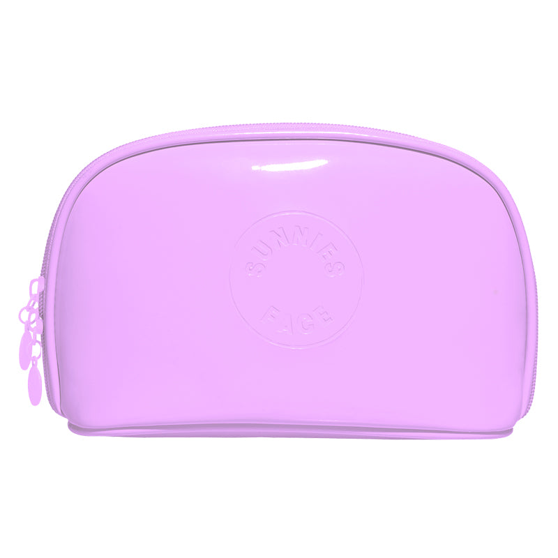 Sunnies Face Patent Pouch - Lilac