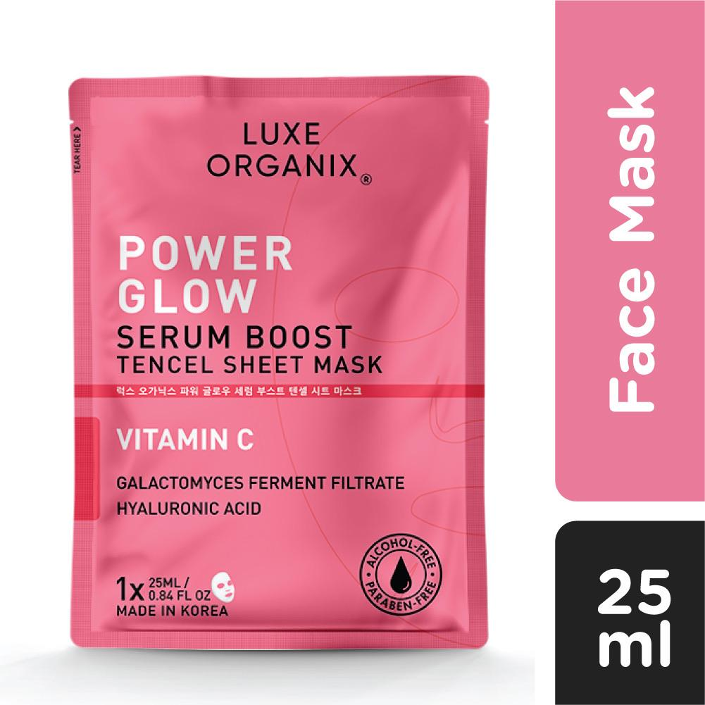 Luxe Organix PH Power Glow Serum Boost Tencel Sheet Mask