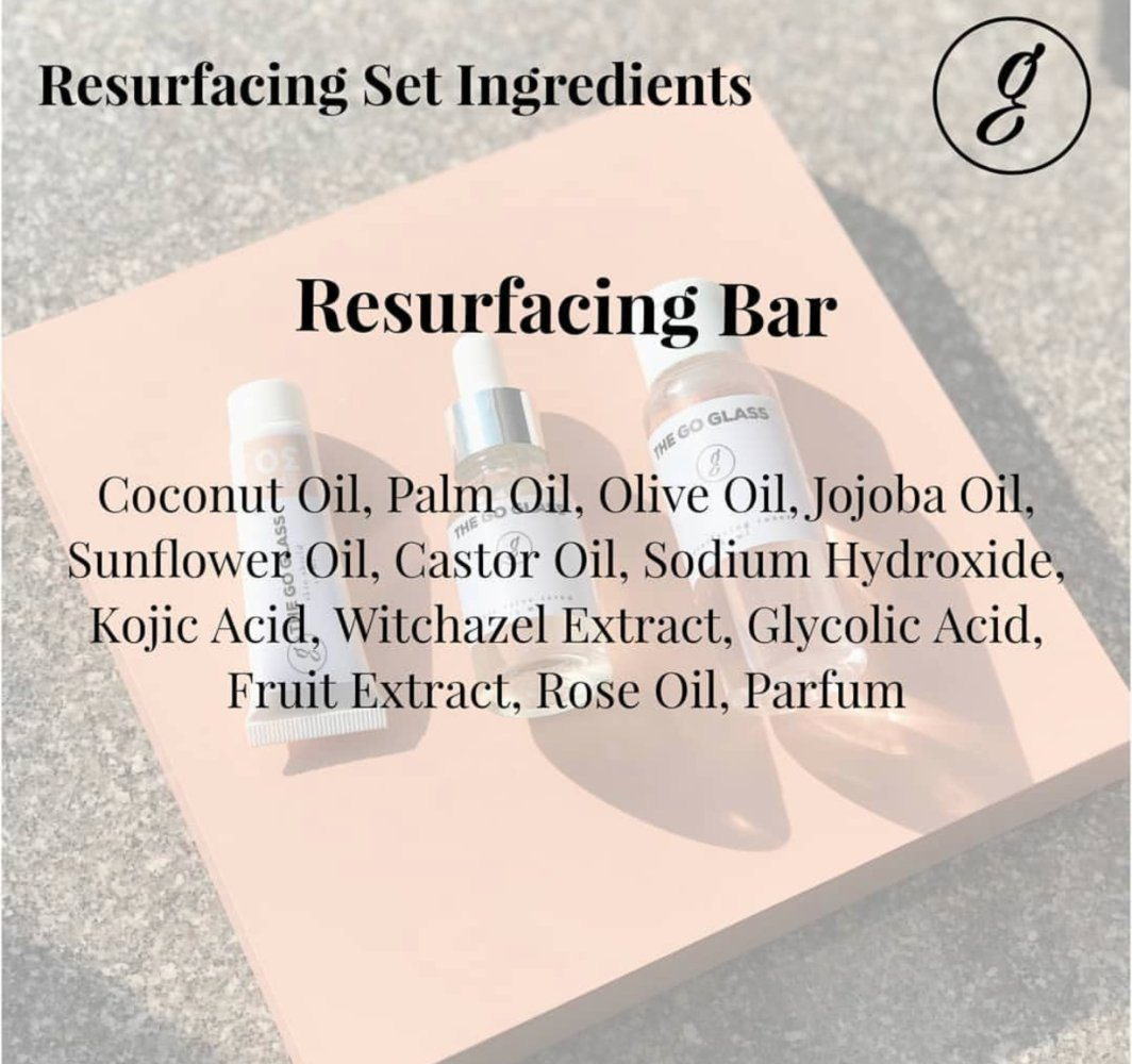 The Go Glass Resurfacing Bar New Formula Ingredients
