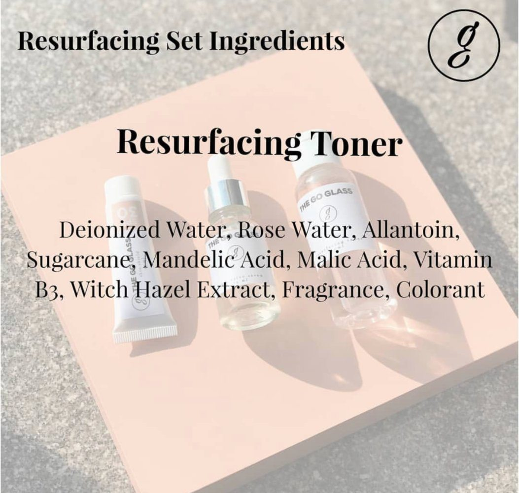The Go Glass Resurfacing Toner New Formula Ingredients