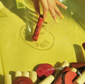 Sunnies Face Limited Edition Jelly Tote in Citron Closeup