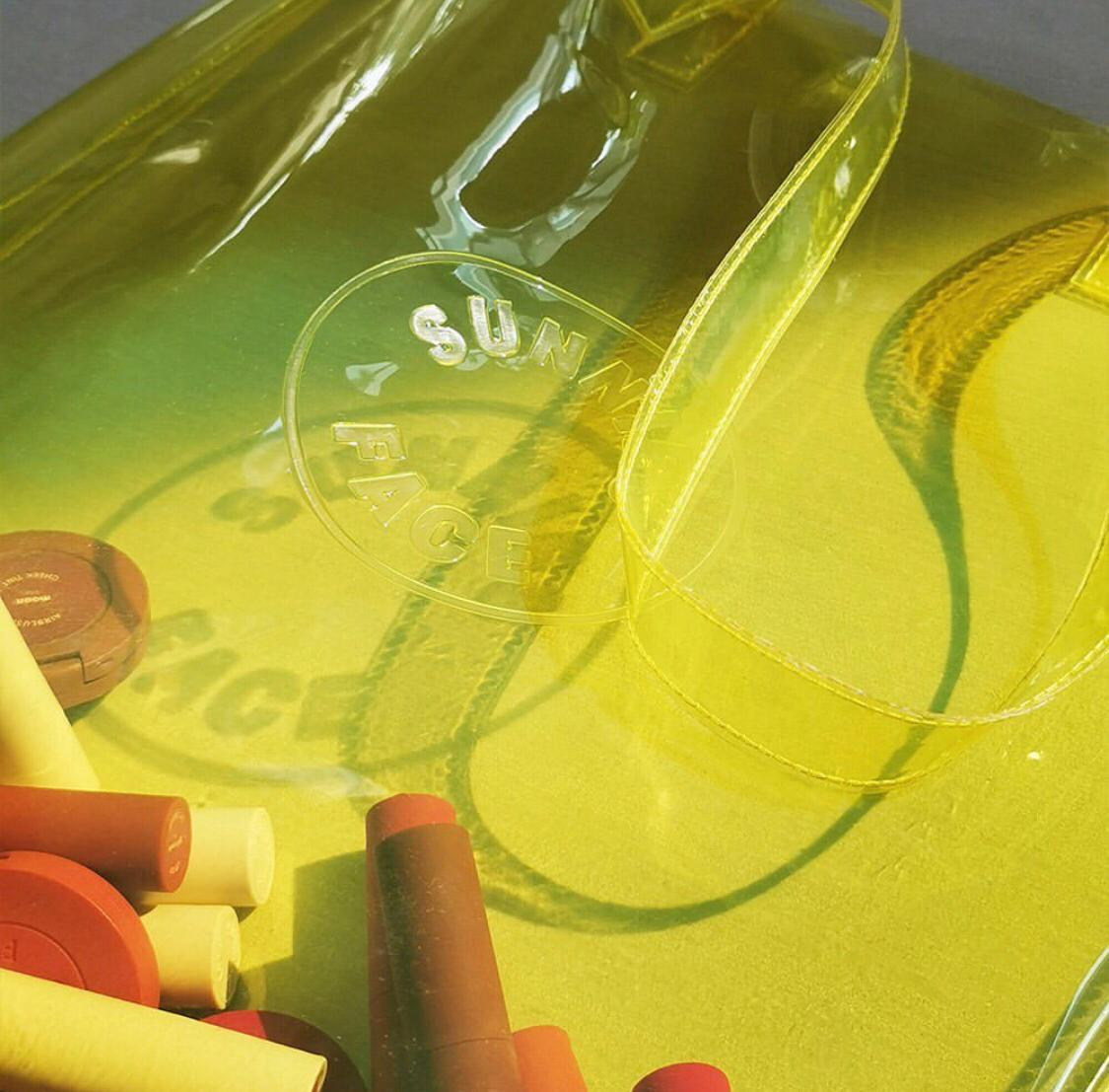Sunnies Face Limited Edition Jelly Tote in Citron Closeup 2