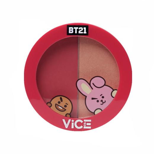 Vice Cosmetics BT21 Aura Blush and Glow Duo - Orchid Pink