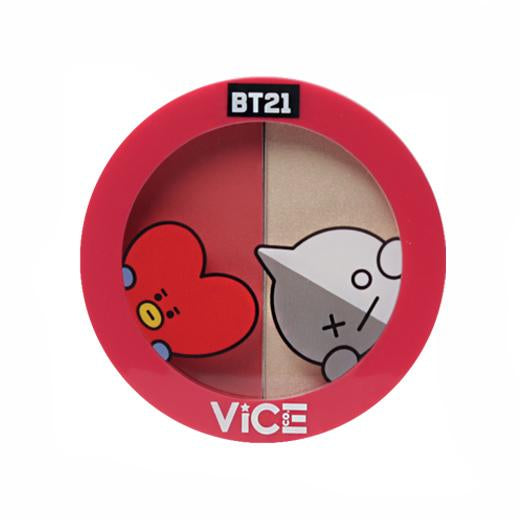 Vice Cosmetics BT21 Aura Blush and Glow Duo - Poppy Red
