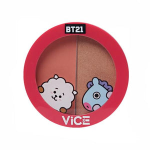 Vice Cosmetics BT21 Aura Blush and Glow Duo - Pretty Peach