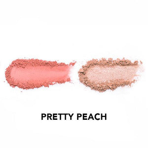 Vice Cosmetics BT21 Aura Blush and Glow Duo - Pretty Peach swatch