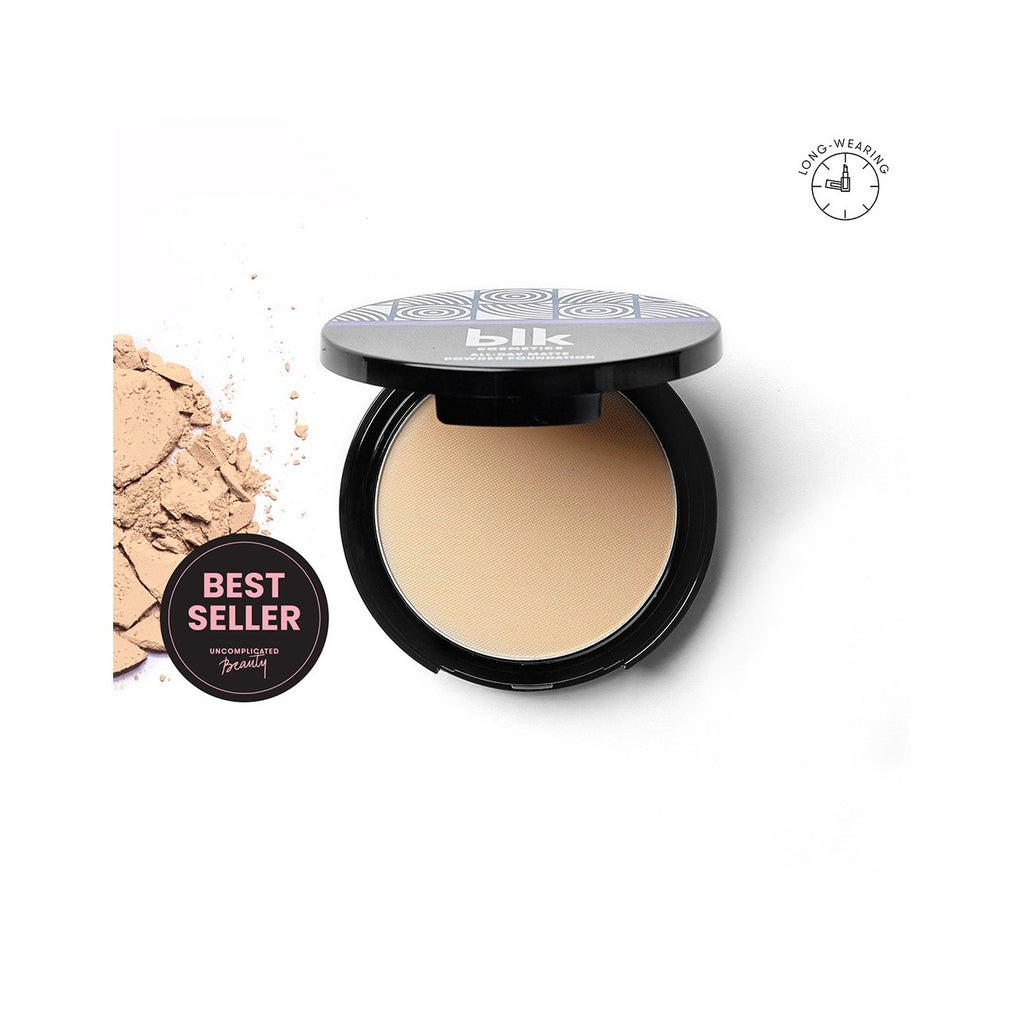 blk cosmetics All-Day Matte Powder Foundation - Light Beige