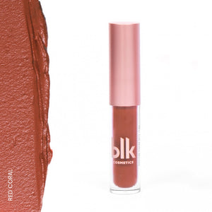blk cosmetics Holiday Mini Soft Matte Mousse - Red Coral Swatch