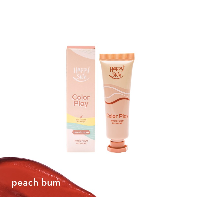 Happy Skin Color Play Multi-Use Mousse In Peach Bum