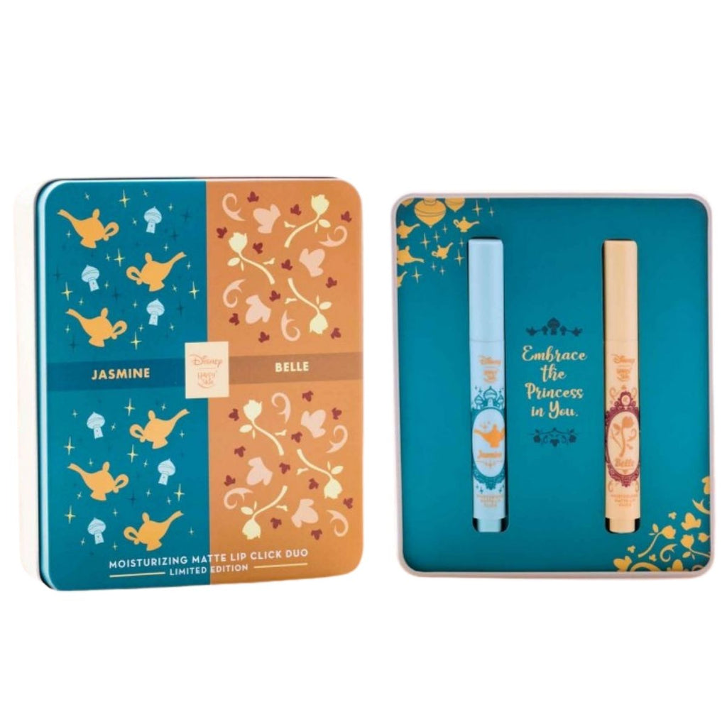 Happy Skin | Disney Limited Edition Moisturizing Matte Lip Click Duo - Jasmine & Belle