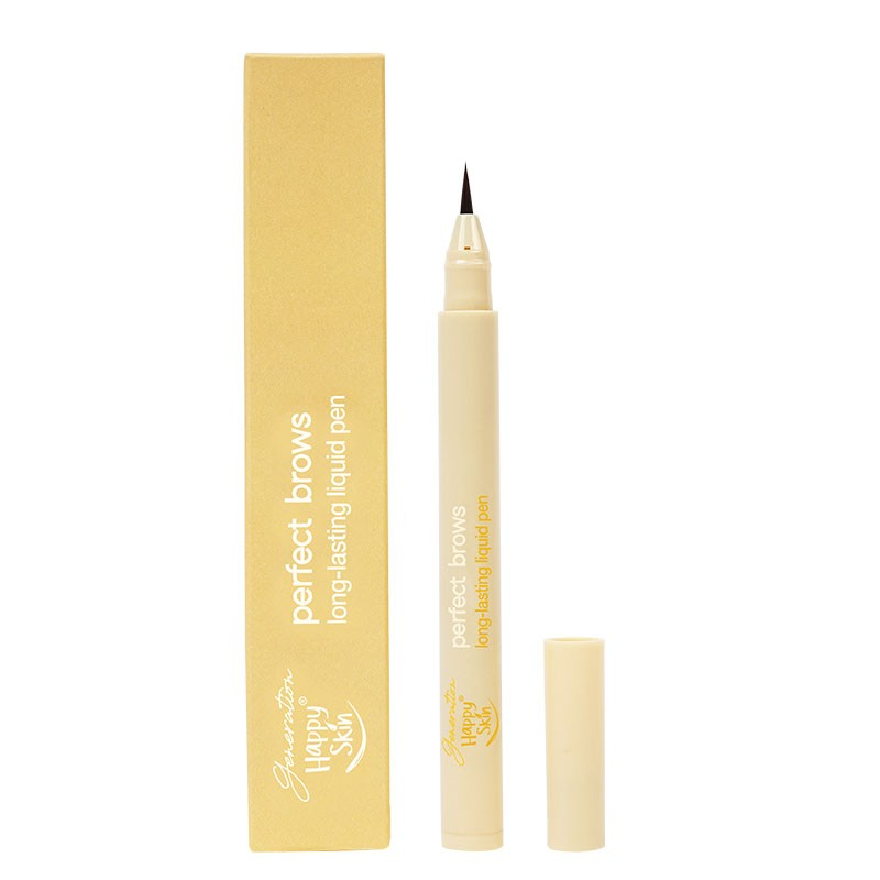 Happy Skin Perfect Brows Long-Lasting Liquid Pen in Natural Brown