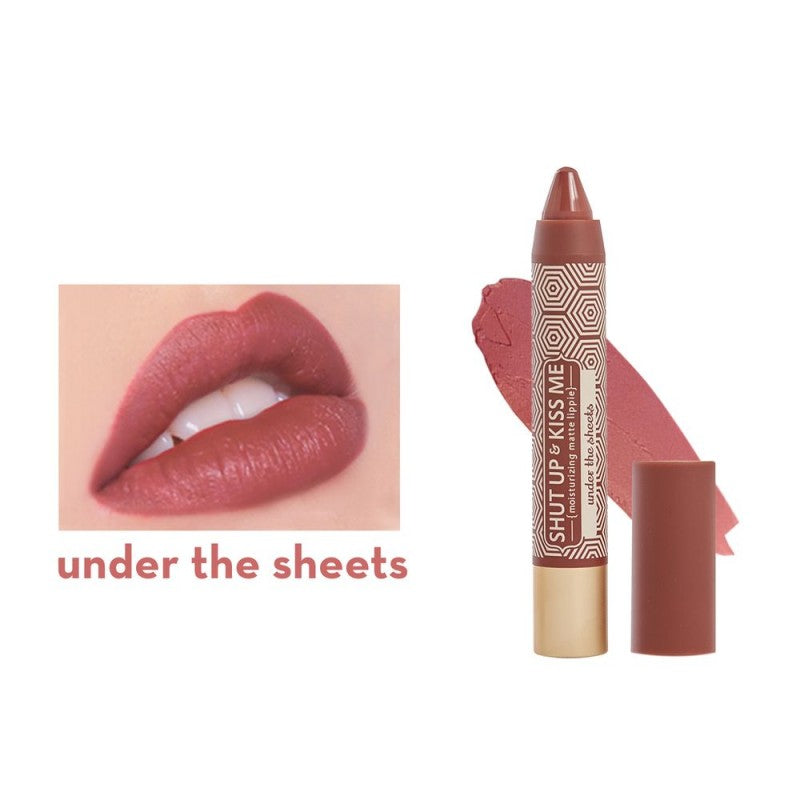 Happy Skin Shut Up & Kiss Me Moisturizing Matte Lippie - Under The Sheets