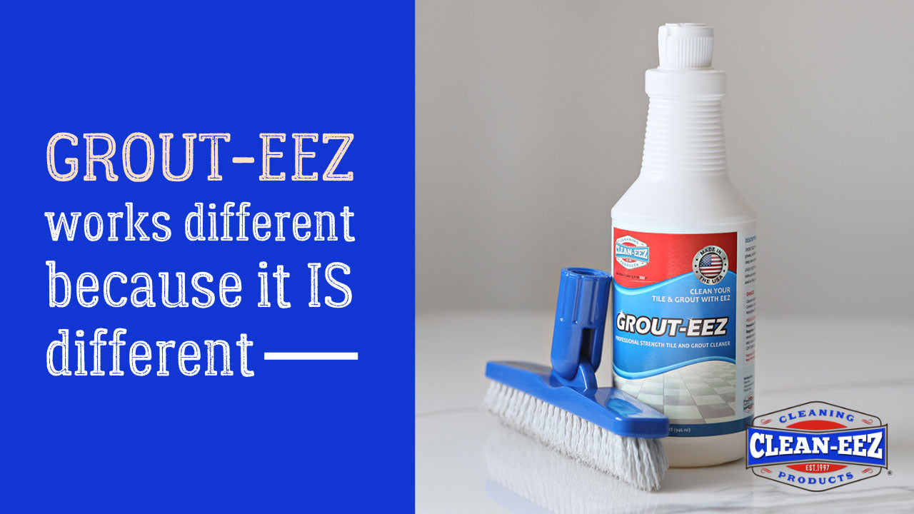 grout-eez is different banner