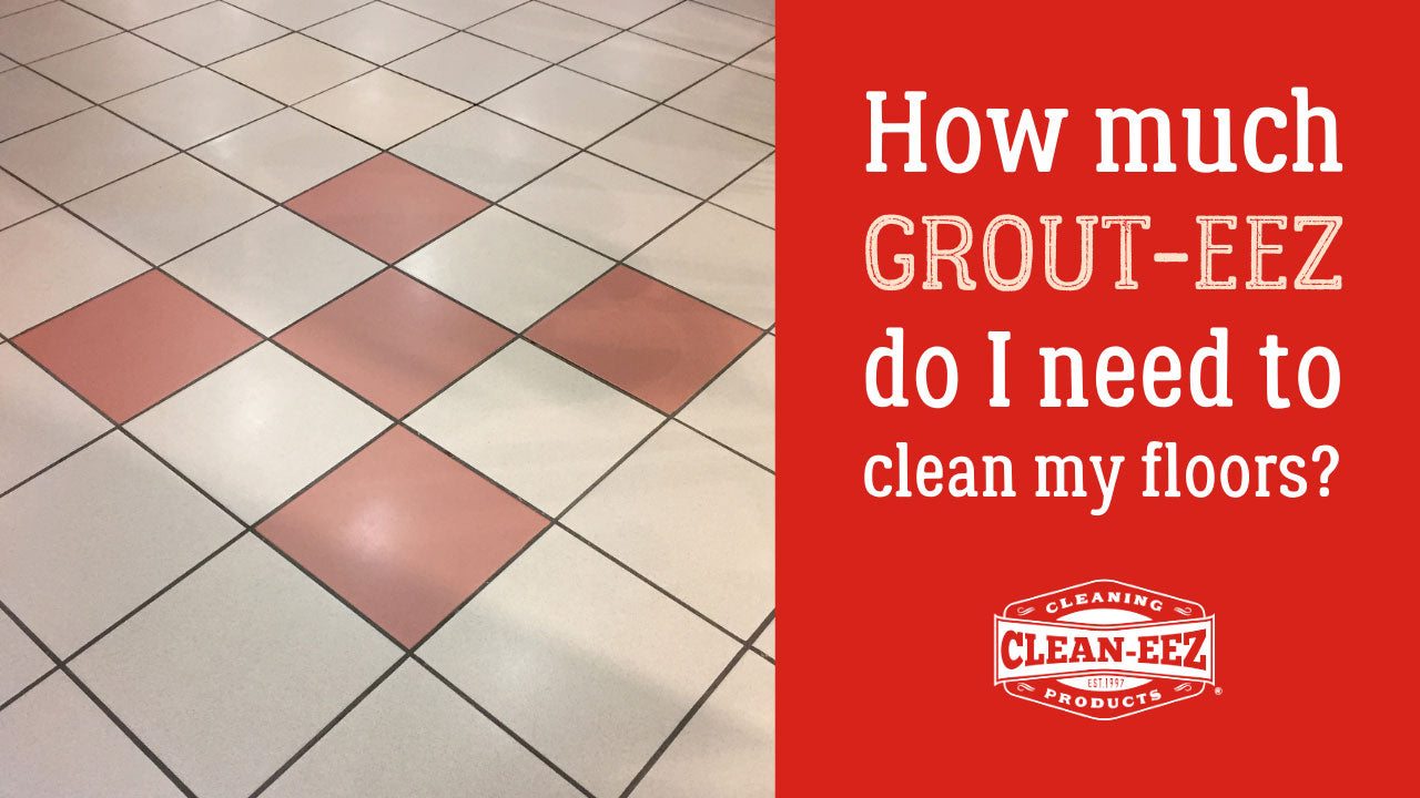 how much grout-eez to use banner