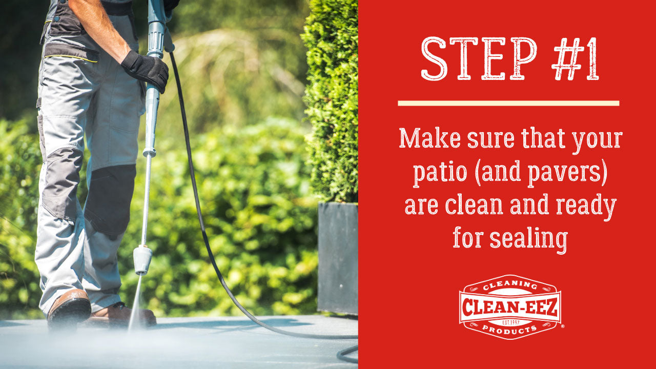 step 1 cleaning patios