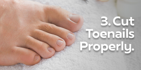 Cut toenails properly image of healthy foot with straight clean toenails