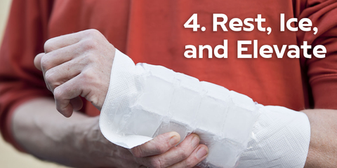 Rest Ice Elevate for Carpal Tunnel Pain Symptoms Relief