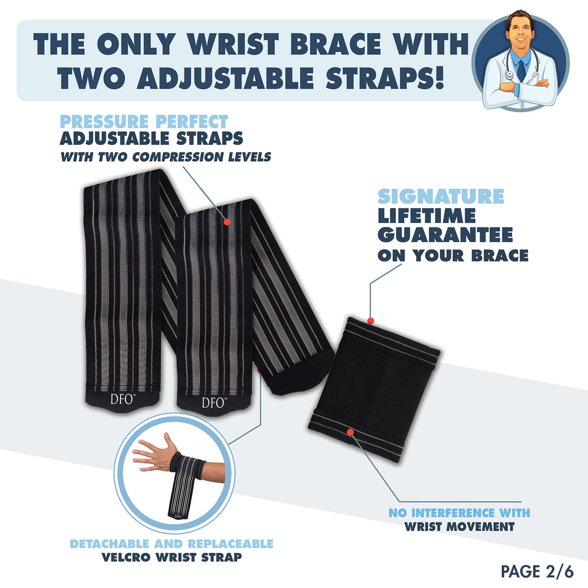 Dr. Frederick's Original Pressure Perfect Wrist Brace System -- for Wrist Pain