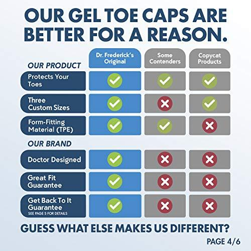 Dr. Frederick's Original Gel Toe Caps - 6 Pieces -- for Corns, Calluses, Blisters, and Ingrown Toenails Foot Pain Dr. Frederick's Original