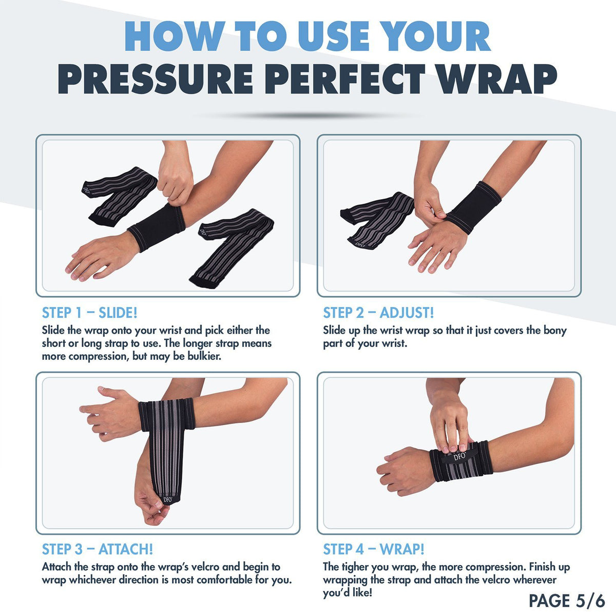 Perfect Wrist Brace with 2 Fully Adjustable & Modular Wrist Straps - Hand Brace with Thumb Support - One Unit, Left and Right Hand Wrist Pain Dr. Frederick's Original